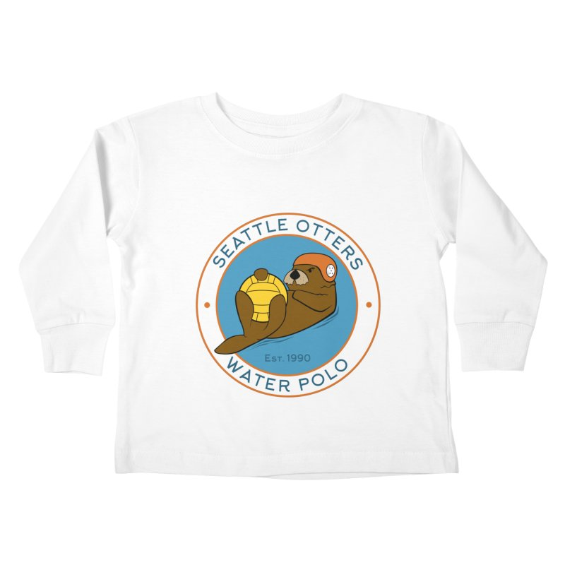 Otters Logo Kids Toddler Longsleeve T-Shirt by Seattle Otters Water Polo