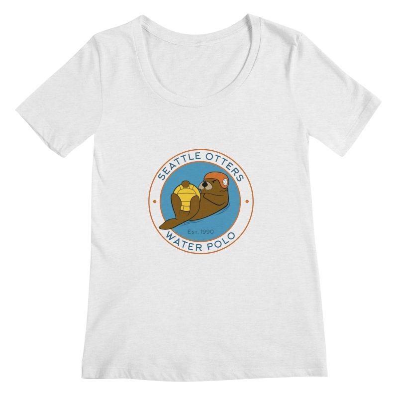 Otters Logo Women's Regular Scoop Neck by Seattle Otters Water Polo