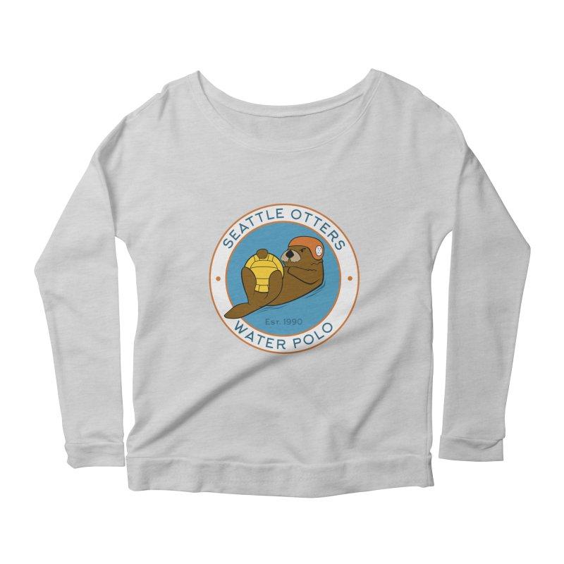 Otters Logo Women's Scoop Neck Longsleeve T-Shirt by Seattle Otters Water Polo