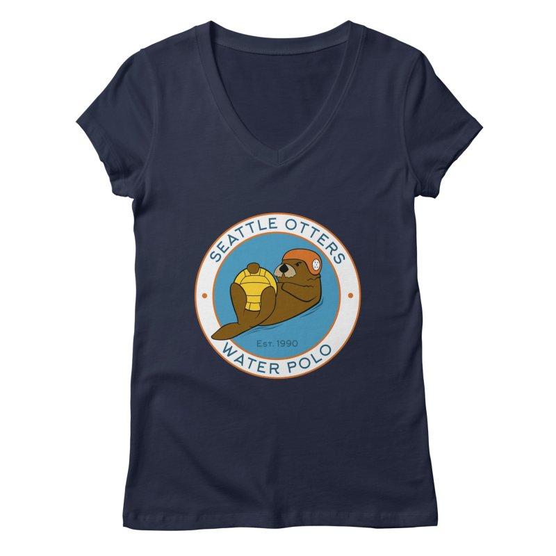 Otters Logo Women's Regular V-Neck by Seattle Otters Water Polo