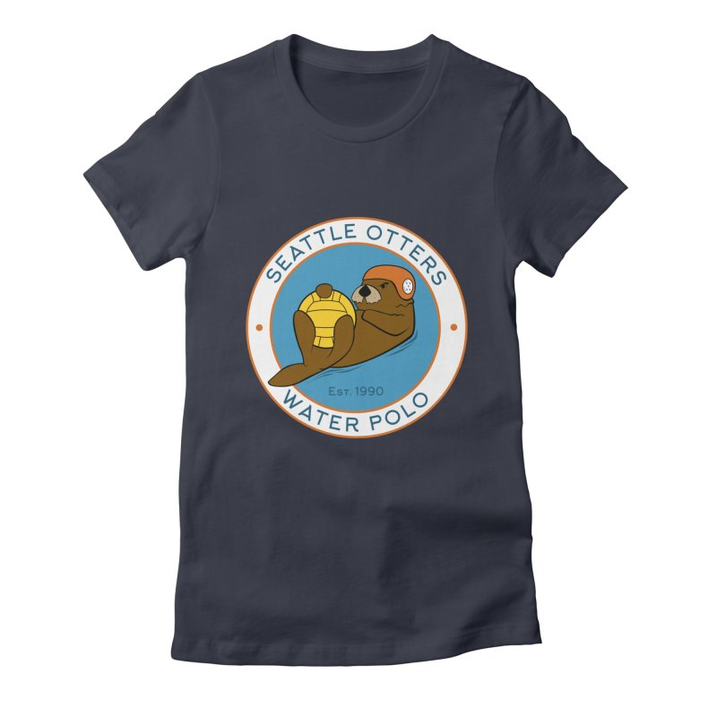 Otters Logo Women's Fitted T-Shirt by Seattle Otters Water Polo
