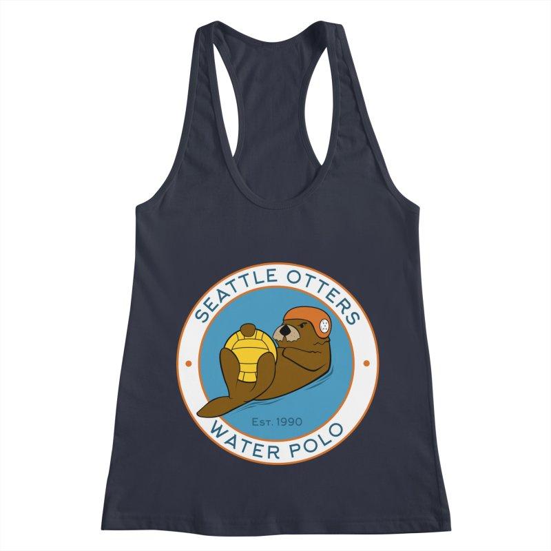 Otters Logo Women's Racerback Tank by Seattle Otters Water Polo