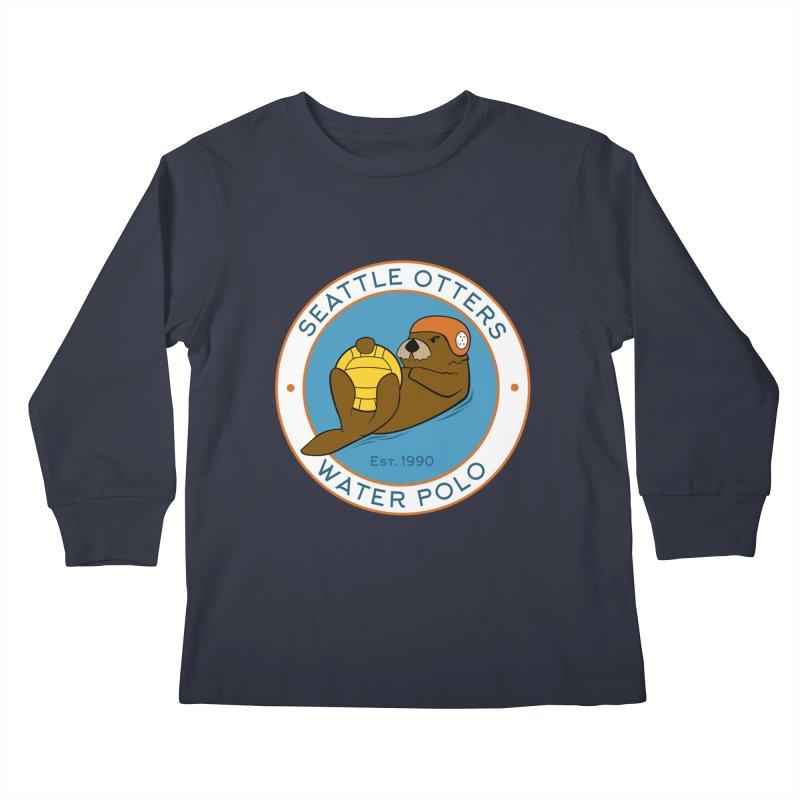Otters Logo Kids Longsleeve T-Shirt by Seattle Otters Water Polo