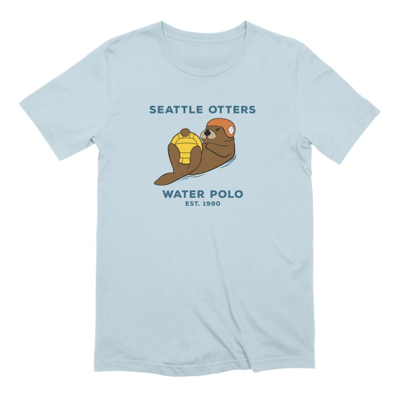 Otters Alternate Men's Extra Soft T-Shirt by Seattle Otters Water Polo