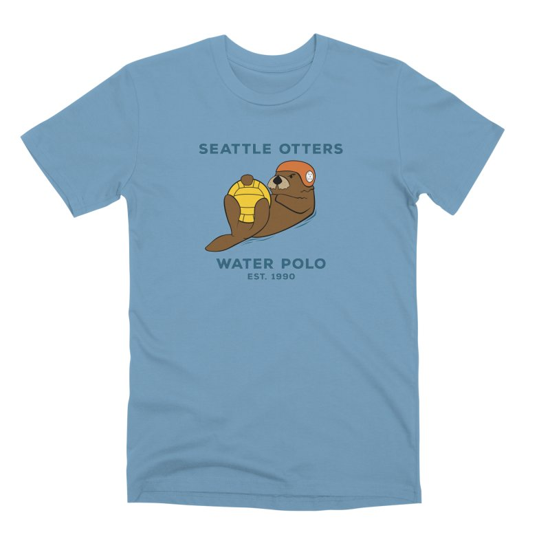 Otters Alternate Men's Premium T-Shirt by Seattle Otters Water Polo