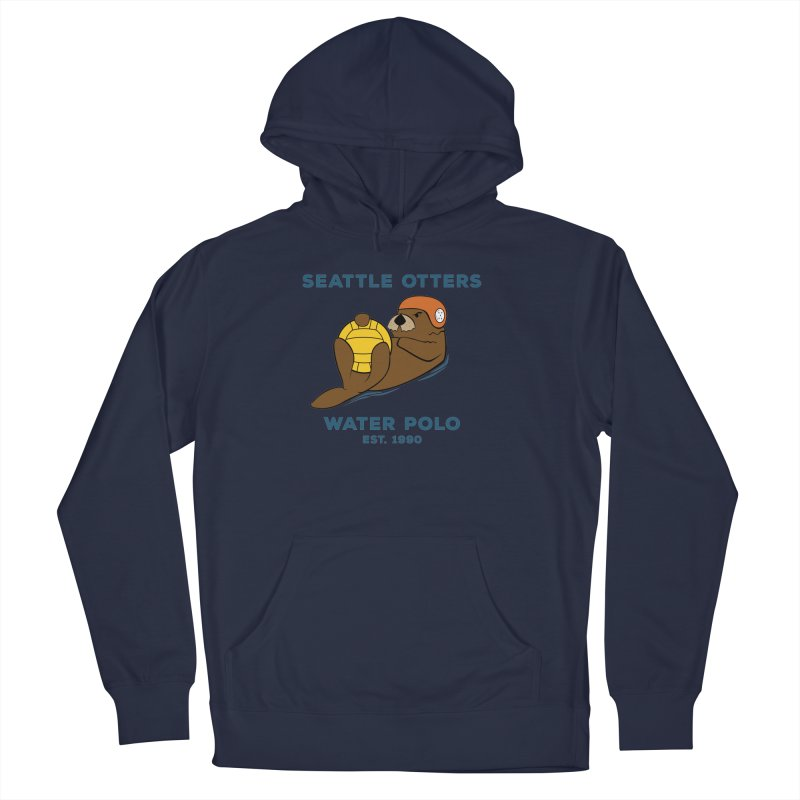 Otters Alternate Men's French Terry Pullover Hoody by Seattle Otters Water Polo