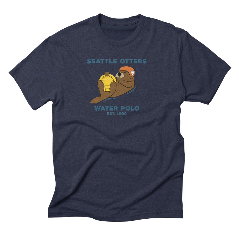 Otters Alternate Men's Triblend T-Shirt by Seattle Otters Water Polo