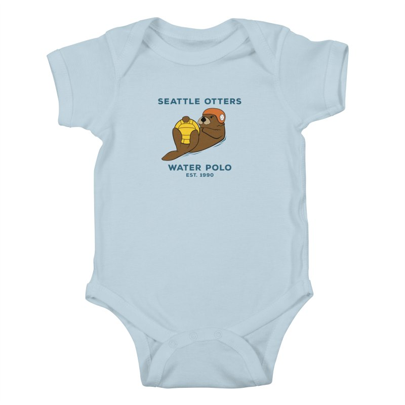 Otters Alternate Kids Baby Bodysuit by Seattle Otters Water Polo