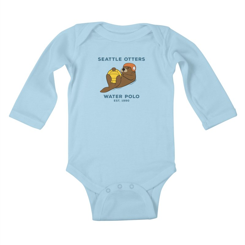 Otters Alternate Kids Baby Longsleeve Bodysuit by Seattle Otters Water Polo