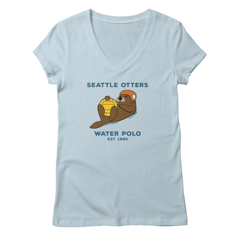 Otters Alternate Women's V-Neck by Seattle Otters Water Polo