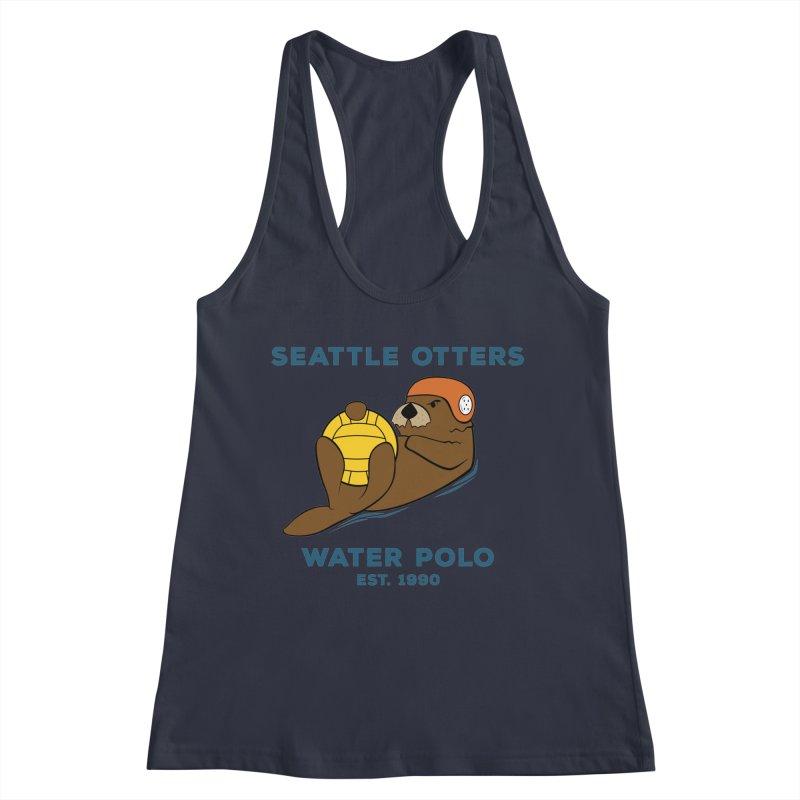 Otters Alternate Women's Racerback Tank by Seattle Otters Water Polo