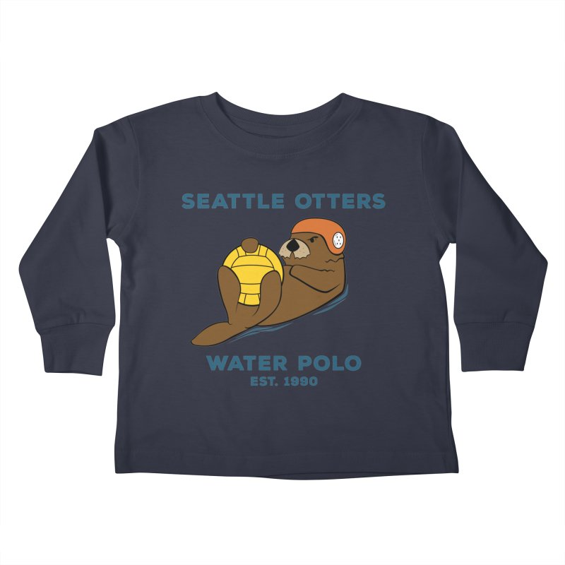 Otters Alternate Kids Toddler Longsleeve T-Shirt by Seattle Otters Water Polo