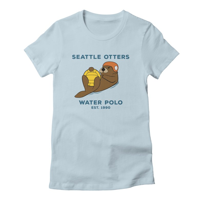 Otters Alternate Women's Fitted T-Shirt by Seattle Otters Water Polo