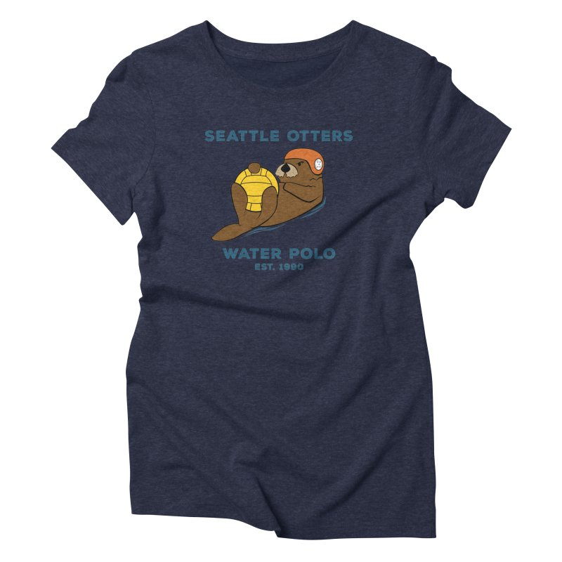 Otters Alternate Women's Triblend T-Shirt by Seattle Otters Water Polo