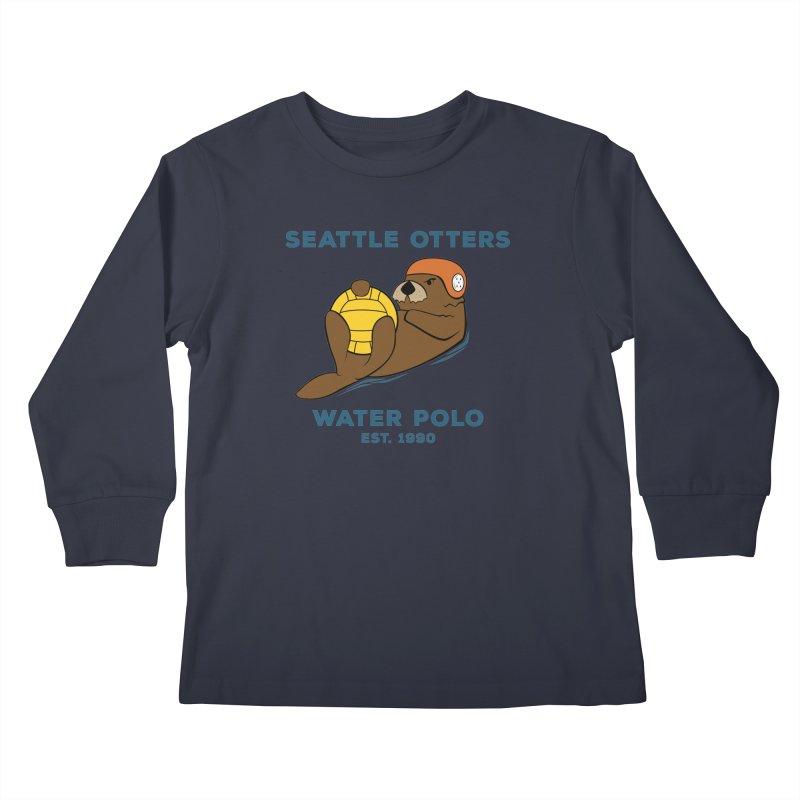 Otters Alternate Kids Longsleeve T-Shirt by Seattle Otters Water Polo