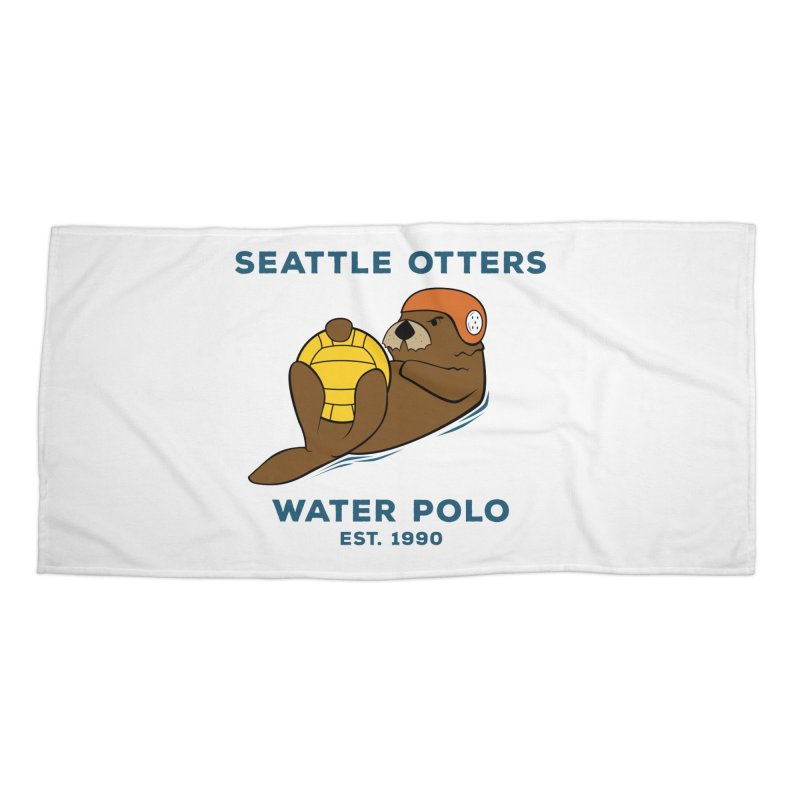 Otters Alternate Accessories Beach Towel by Seattle Otters Water Polo