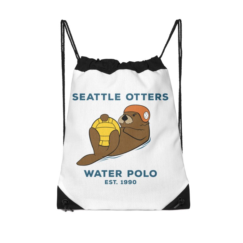 Otters Alternate Accessories Drawstring Bag Bag by Seattle Otters Water Polo