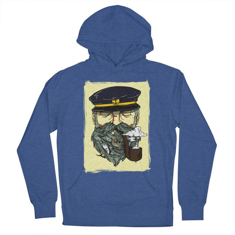 Captain Bluebeard Men's French Terry Pullover Hoody by Sebasebi
