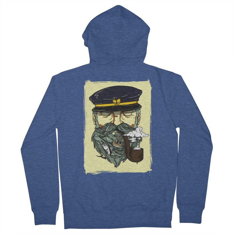 Captain Bluebeard Men's Zip-Up Hoody by Sebasebi