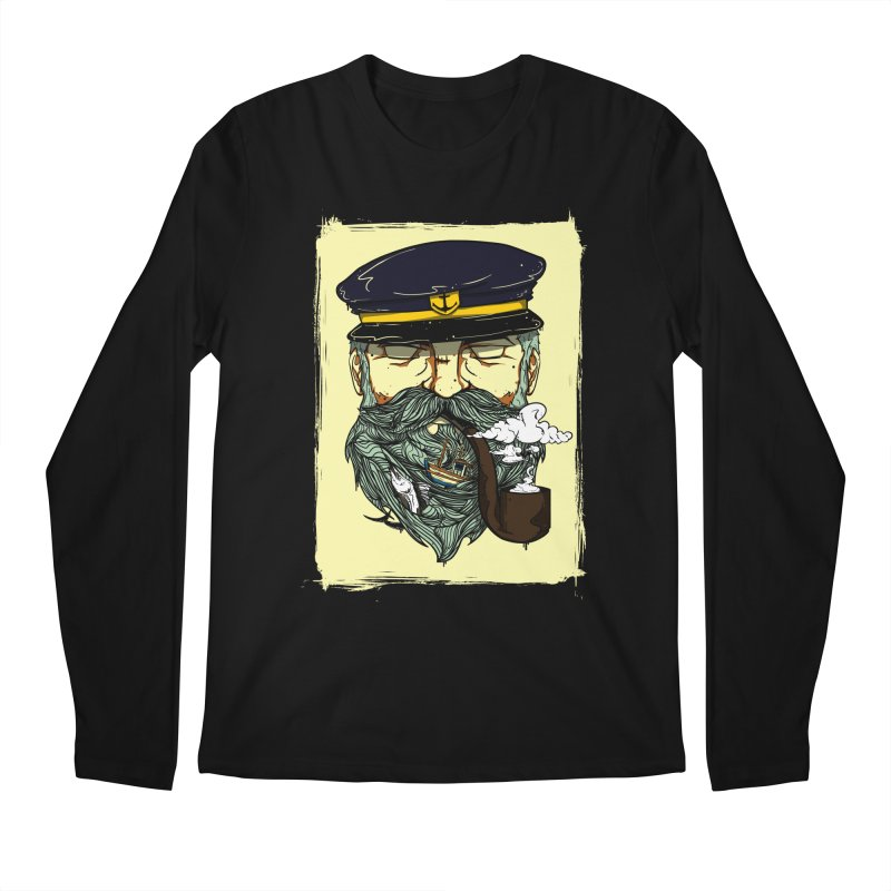 Captain Bluebeard Men's Longsleeve T-Shirt by Sebasebi