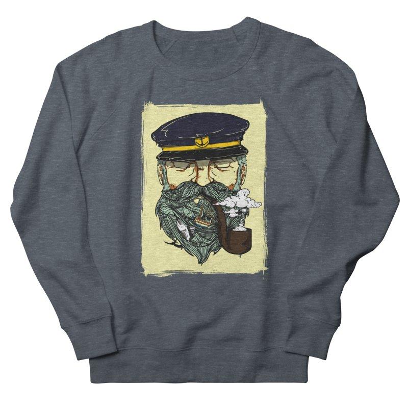 Captain Bluebeard Men's French Terry Sweatshirt by Sebasebi
