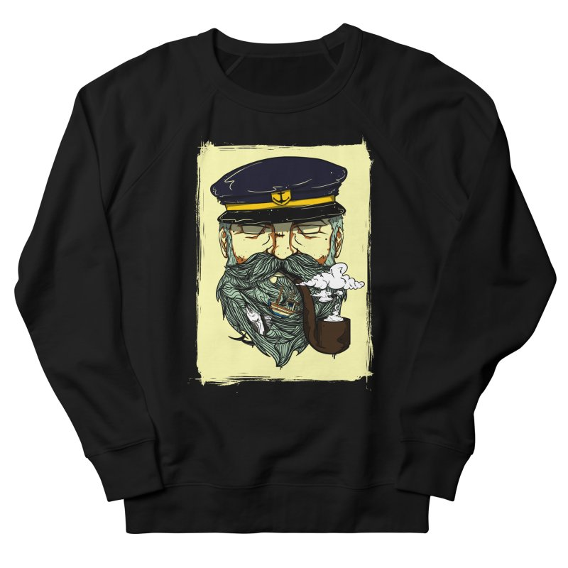 Captain Bluebeard Men's French Terry Sweatshirt by Sebasebi