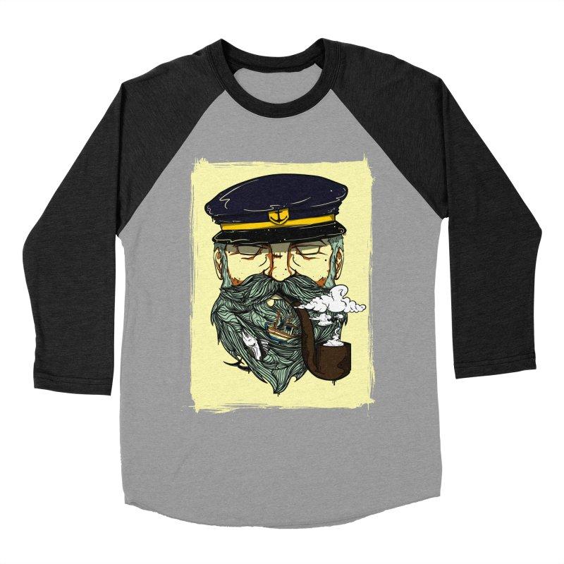 Captain Bluebeard Women's Baseball Triblend T-Shirt by Sebasebi