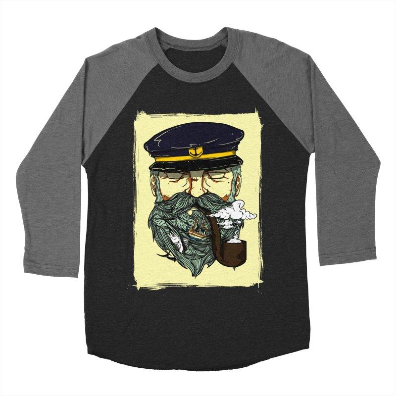 Captain Bluebeard Men's Baseball Triblend Longsleeve T-Shirt by Sebasebi