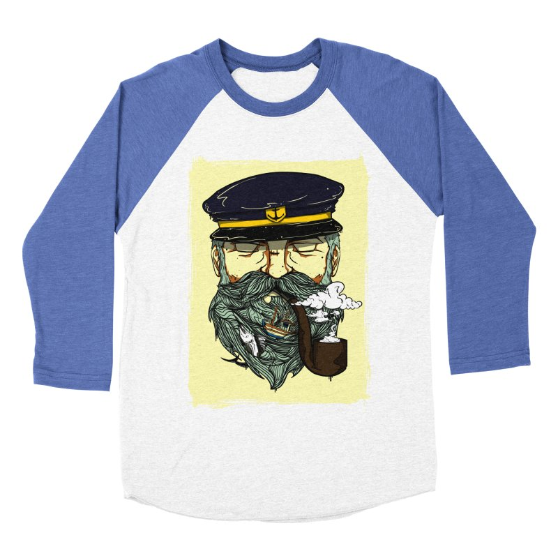 Captain Bluebeard Men's Baseball Triblend T-Shirt by Sebasebi