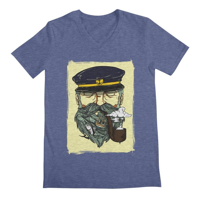 Captain Bluebeard Men's V-Neck by Sebasebi