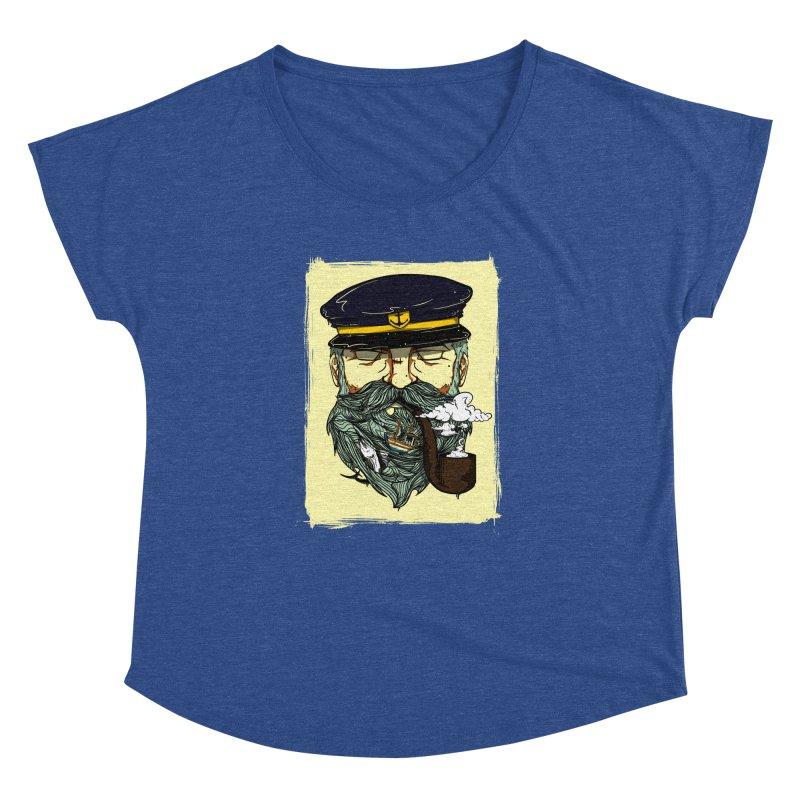 Captain Bluebeard Women's Dolman Scoop Neck by Sebasebi