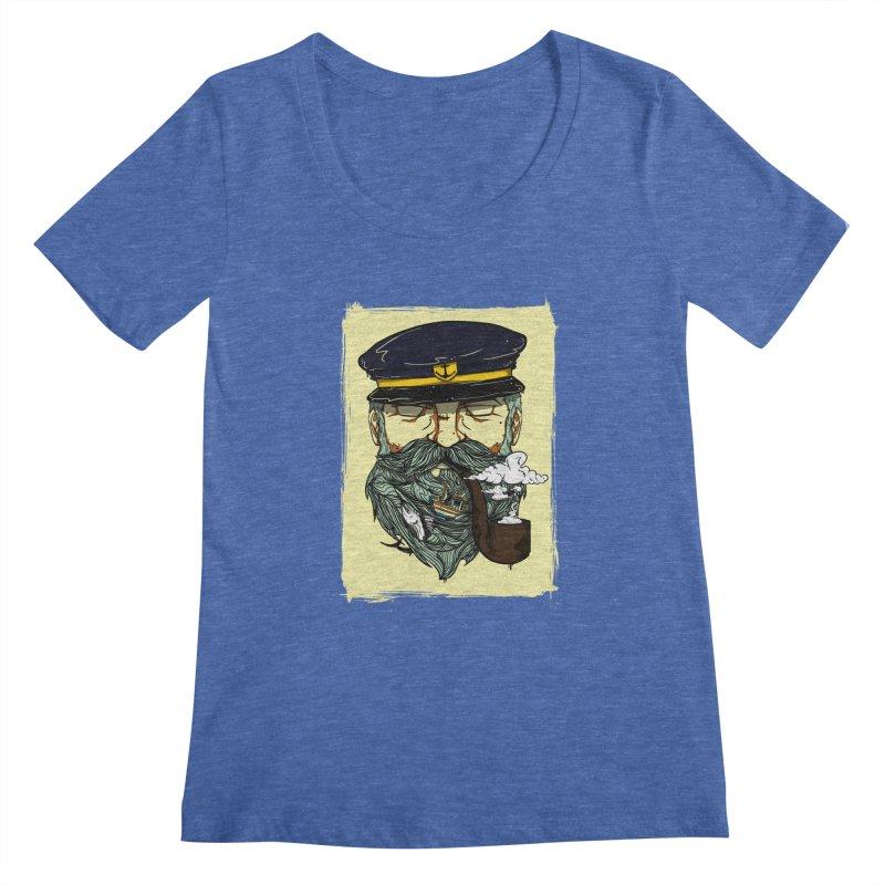 Captain Bluebeard Women's Regular Scoop Neck by Sebasebi