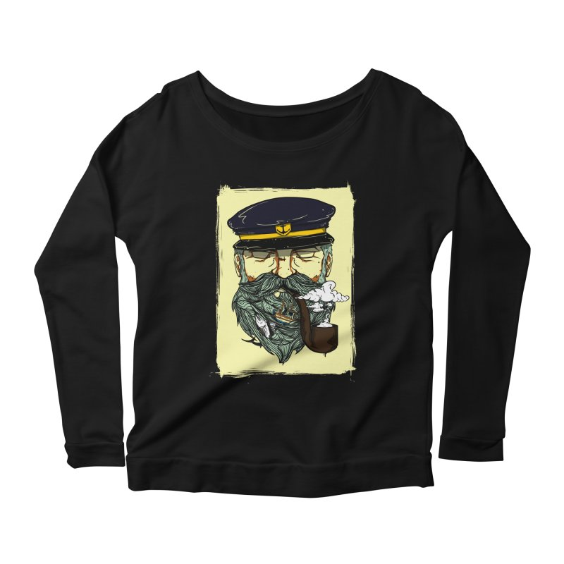 Captain Bluebeard Women's Scoop Neck Longsleeve T-Shirt by Sebasebi
