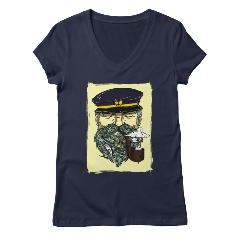 Captain Bluebeard Women's Regular V-Neck by Sebasebi