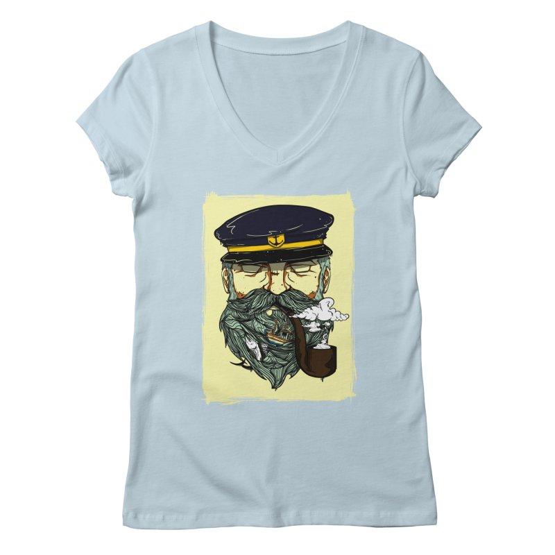 Captain Bluebeard Women's V-Neck by Sebasebi