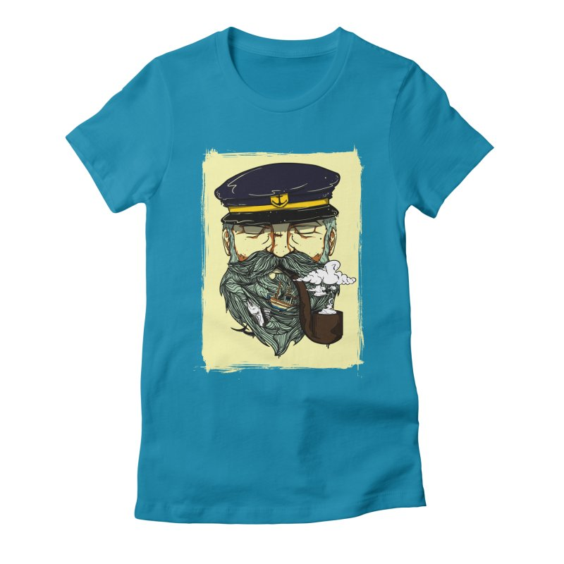 Captain Bluebeard Women's Fitted T-Shirt by Sebasebi