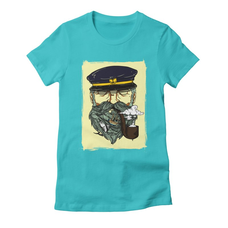 Captain Bluebeard Women's Fitted T-Shirt by Sebasebi