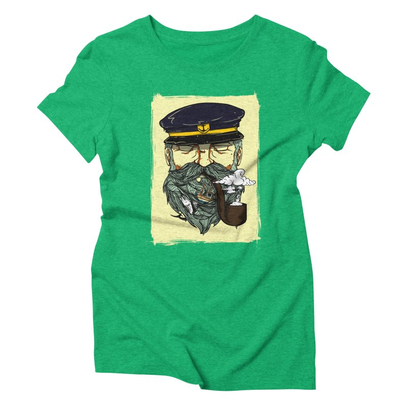 Captain Bluebeard Women's Triblend T-Shirt by Sebasebi