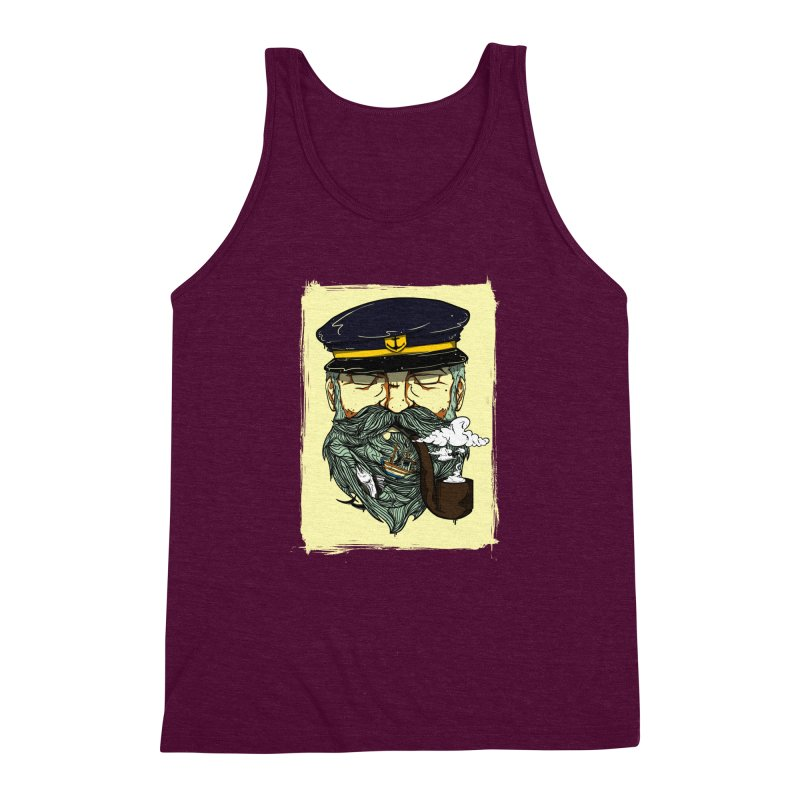Captain Bluebeard Men's Triblend Tank by Sebasebi