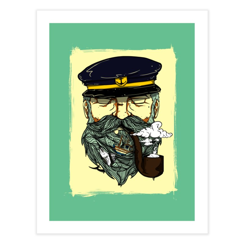 Captain Bluebeard Home Fine Art Print by Sebasebi