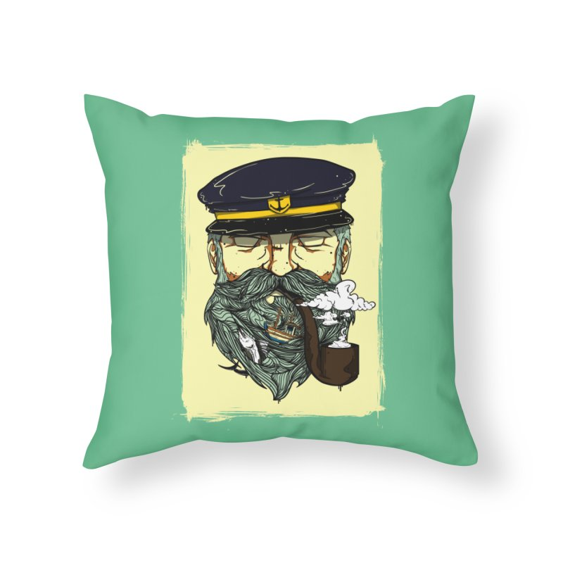 Captain Bluebeard Home Throw Pillow by Sebasebi