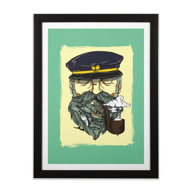 Captain Bluebeard Home Framed Fine Art Print by Sebasebi