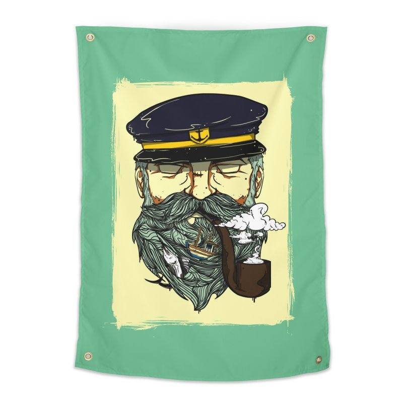 Captain Bluebeard Home Tapestry by Sebasebi