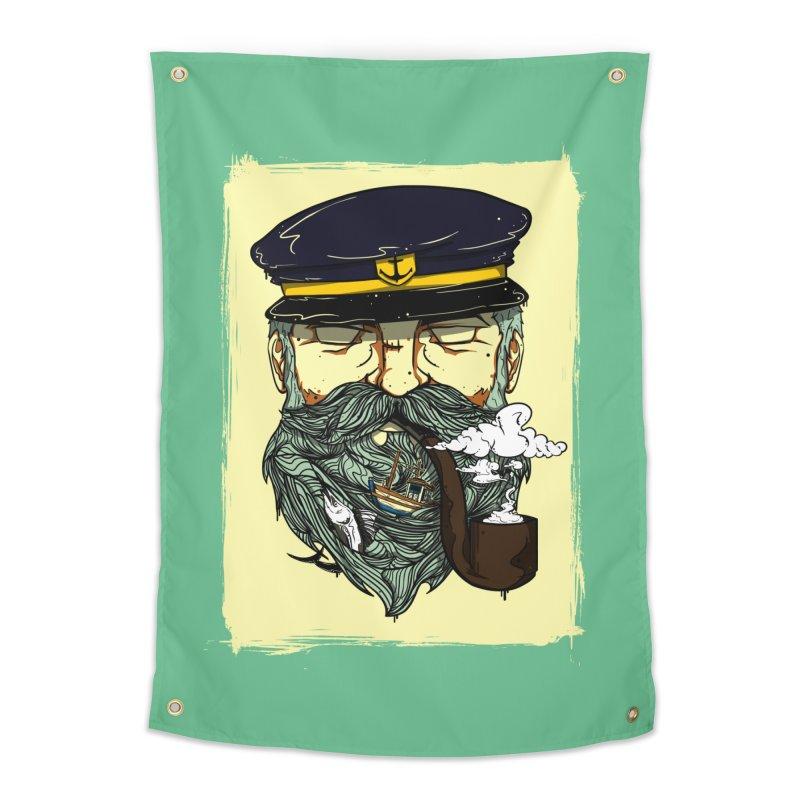 Captain Bluebeard Home Tapestry by Sebasebi