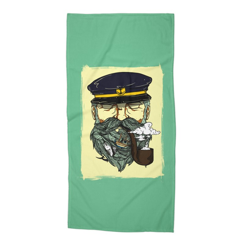 Captain Bluebeard Accessories Beach Towel by Sebasebi