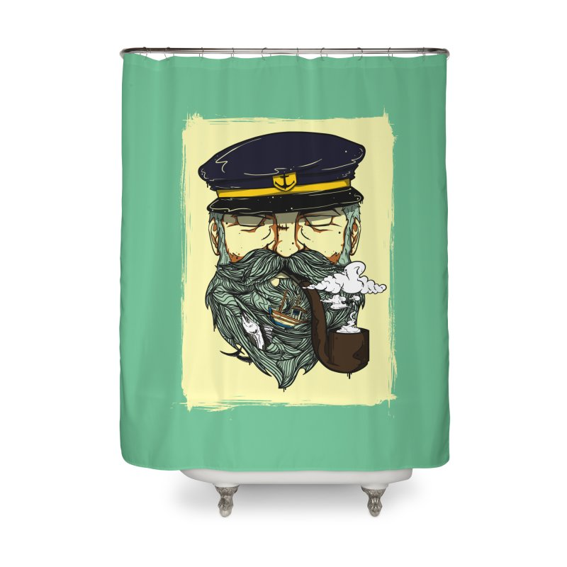 Captain Bluebeard Home Shower Curtain by Sebasebi