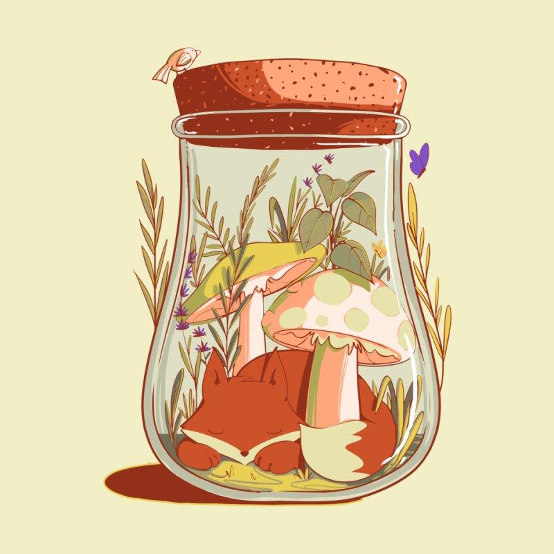 the little life of a fox Men's T-Shirt by Sebasebi