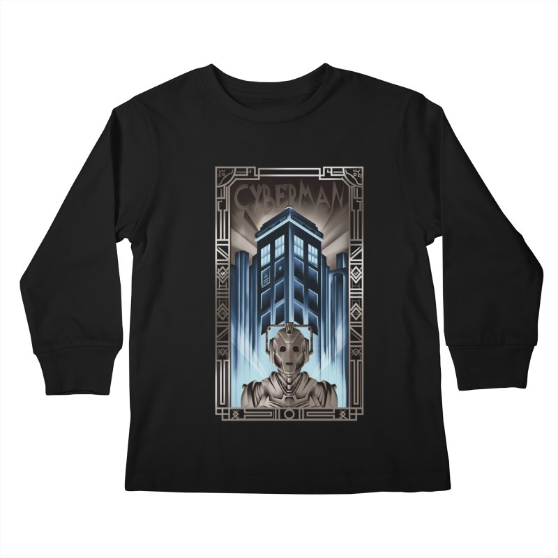 Upgrade your metropolis Kids Longsleeve T-Shirt by Sebasebi
