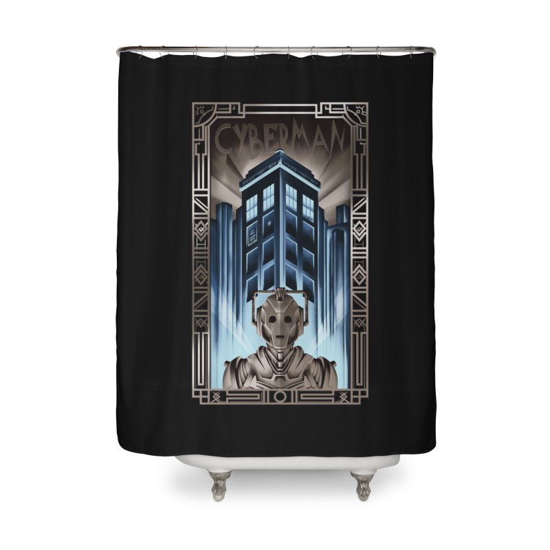 Upgrade your metropolis Home Shower Curtain by Sebasebi