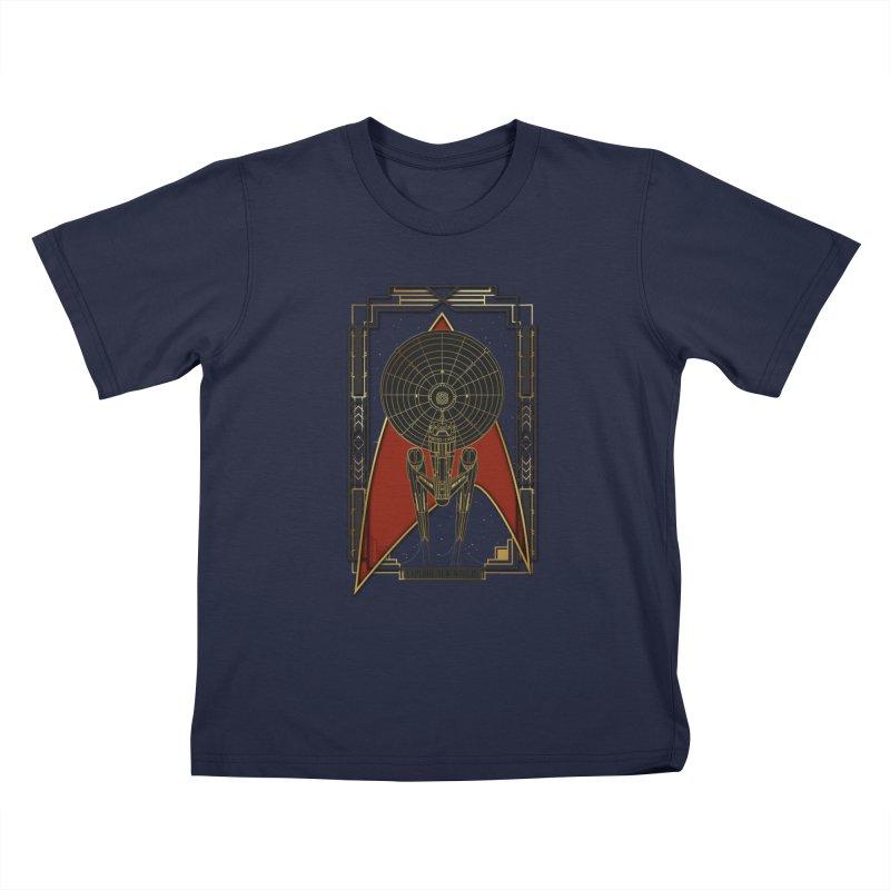 Explore new worlds Kids T-shirt by Sebasebi